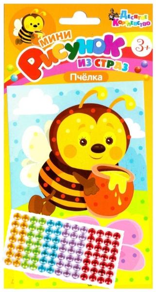 Рисунок из страз «Пчелка»