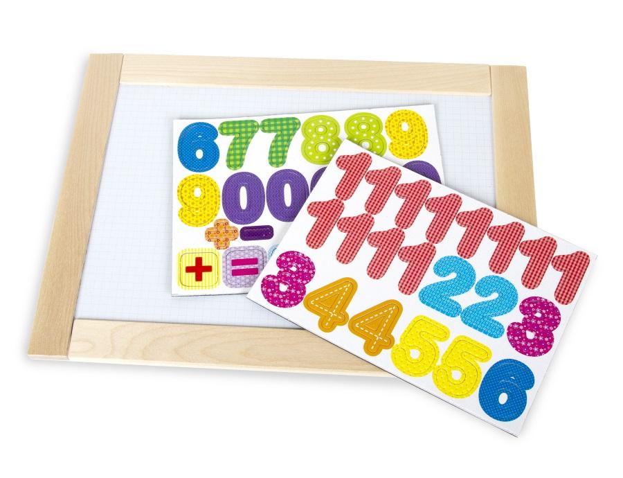 Доска двухсторонняя обучающая «Веселые цифры»