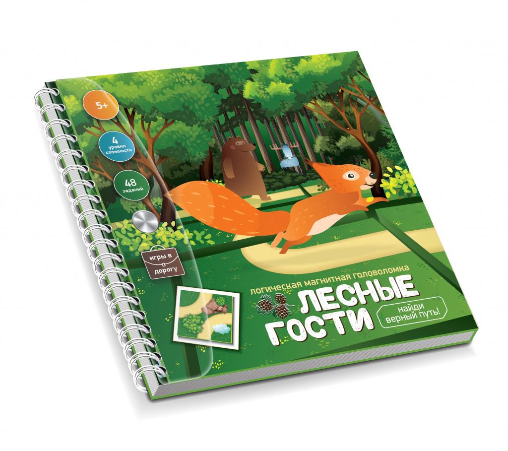 Магнитная головоломка «Лесные гости. Найди верный путь»