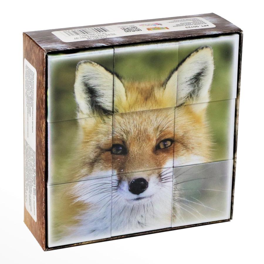 Кубики пластмассовые, 9 штук