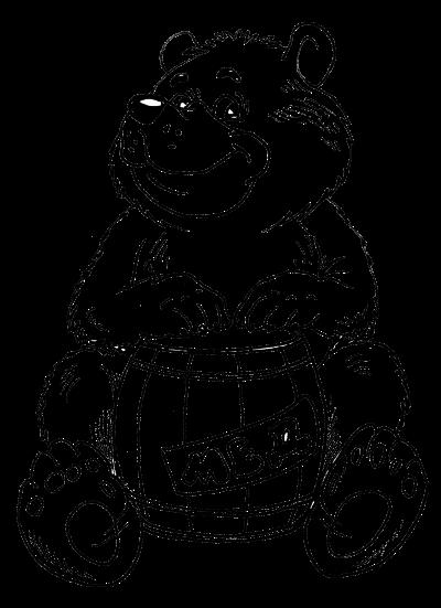 контурные рисунки медведь на флюгер