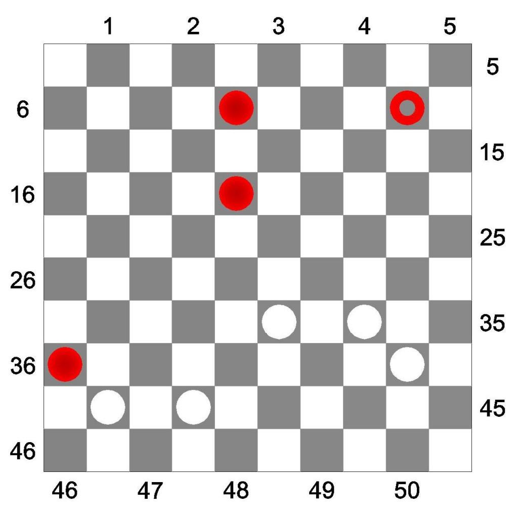 Правила взятия в международных шашках