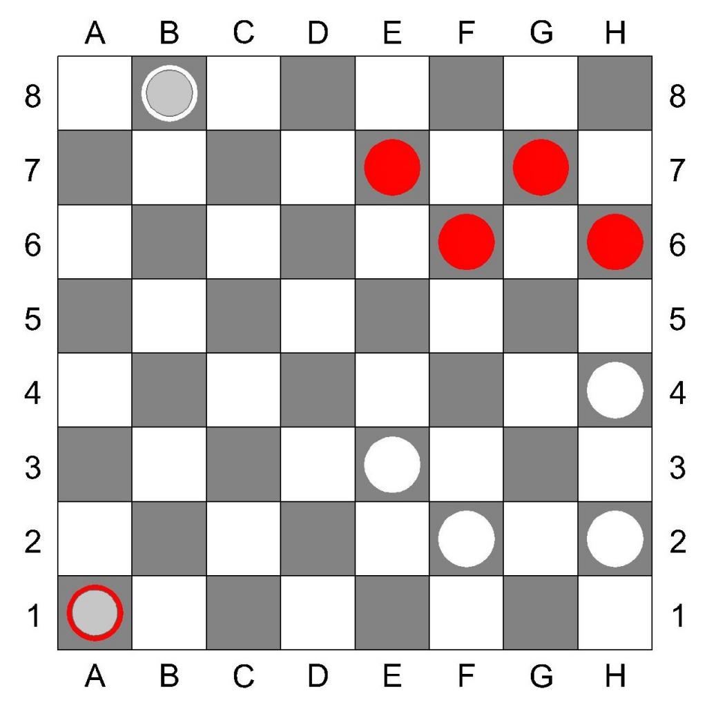 Дамки в русских шашках