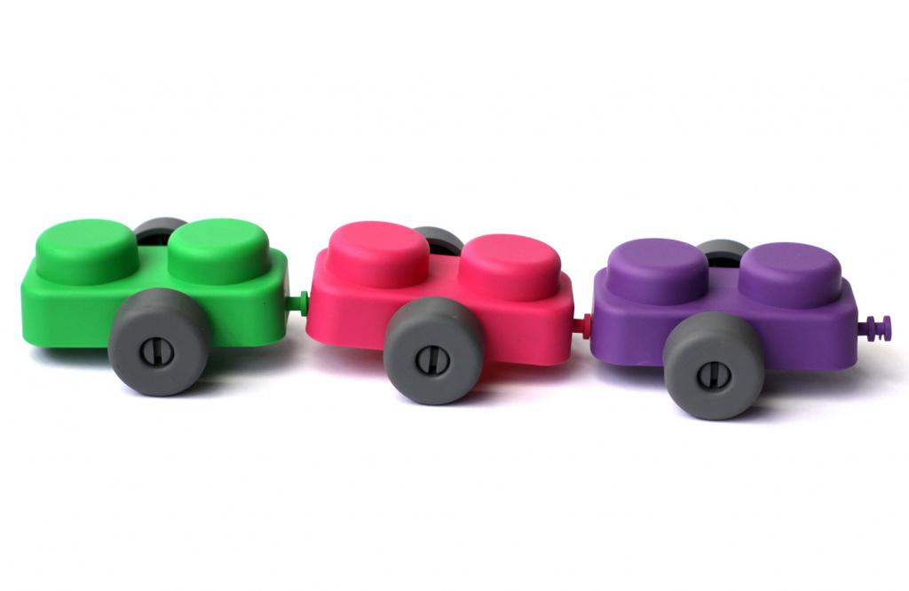 Конструктор для маленьких «Мягкие кирпичики» 21 деталь с колесиками