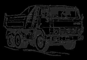 Картинка для выжигания Грузовик