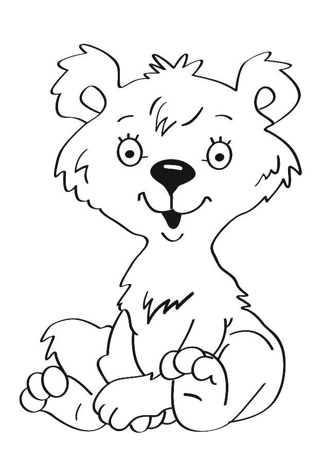 Детский рисунок для выжигания Мишка