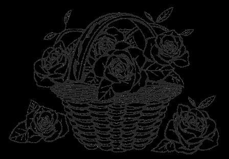 Доска для выжигания Корзинка с цветами