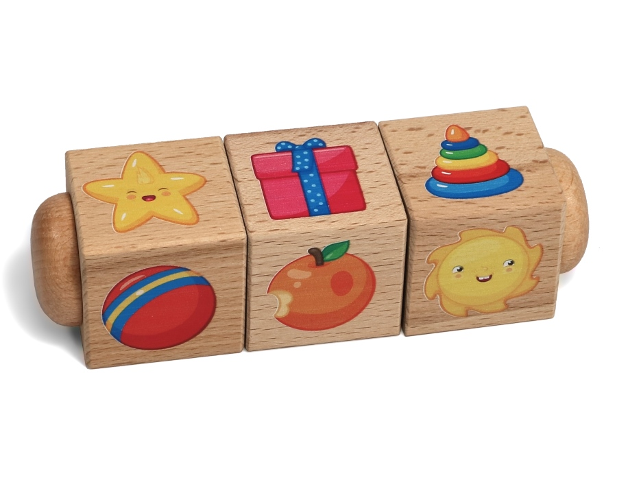 Деревянные кубики «Учим формы»