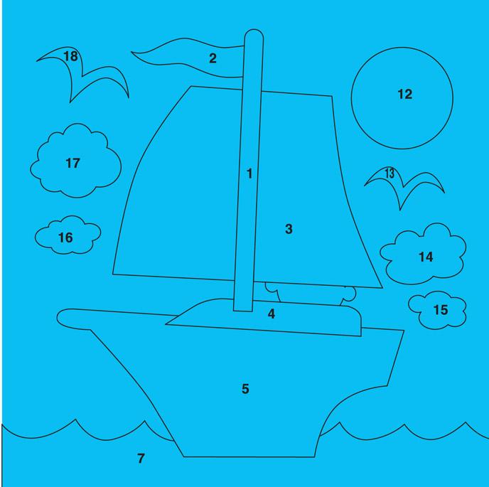 трафарет корабль на море на открытку списке расположены мере