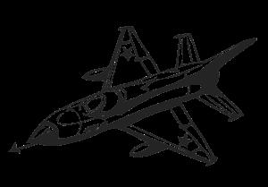 Картинка для выжигания Самолет